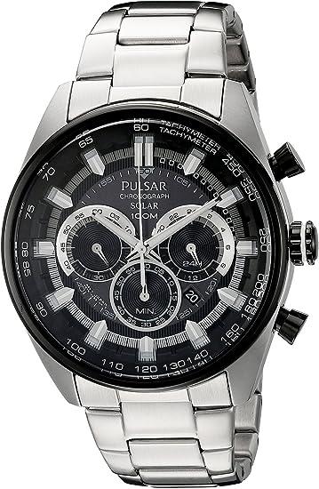 [パルサー]Pulsar 腕時計 Solar Chronograph Analog Display Japanese Quartz Silver Watch PX5033 メンズ [並行輸入品]