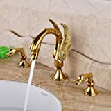Rozinsanitary Luxury Golden Finish Brass Swan Shape