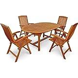 "Indoba Gartenmöbel Set, 5-teilig ""Sun Flair"" - Gartenset - Serie, braun, 220 x 110 x 74 cm, IND-70000-SFSE5"