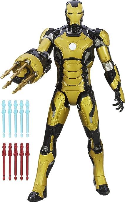 Marvel Iron Man 3 Sonic Blasting 12-Inch Figure with Glow In The Dark Armor