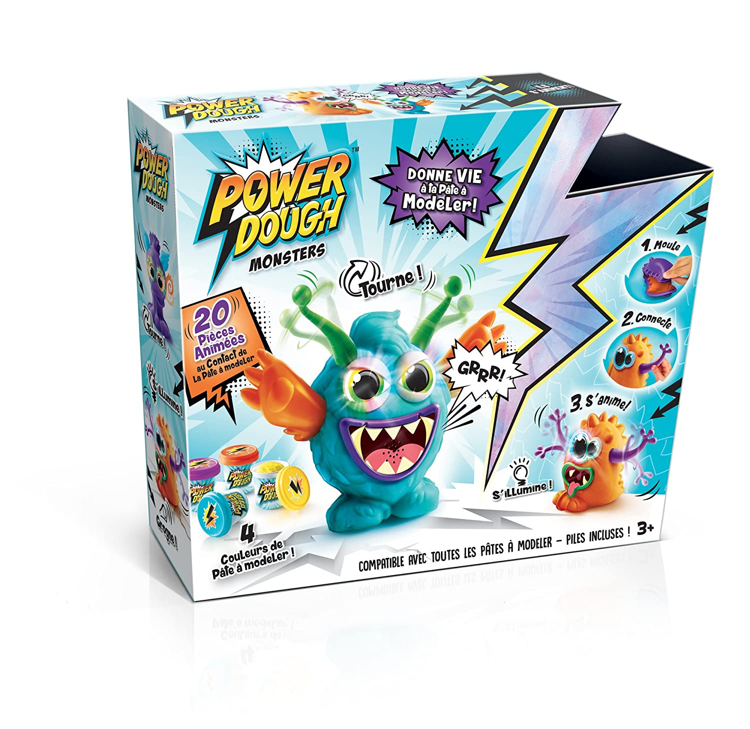 Canal Toys - ct57901 - Pate a Modeler - Power Dough - Crazy Monster: Amazon.es: Juguetes y juegos