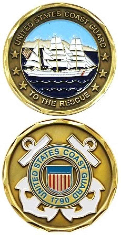 Challenge Coin - Piece de mé rite US militaire Gardes cotes Mé daille decoration US Coast Guard