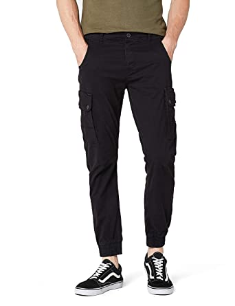 Jack Jones – Herren Jeans – Cargo Pants – Paul Warner AKM168 Black – Größe  W29   53ba9692d4