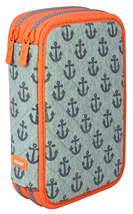 Milan Anchors 081264AH Estuches, 20 cm, Gris/Naranja: Amazon ...