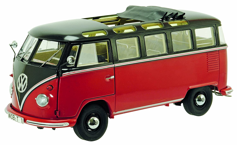 Schuco 450028400 - VW T1b Samba Maßstab 1:18, braun/rot