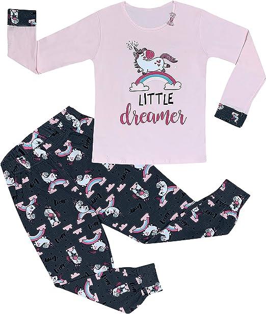 Pijama para niña, juego de pijama de unicornio, pijama de casa ...