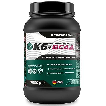 K6 + proteína multicomponente BCAA, fuentes de proteína de suero de leche 6 (suero