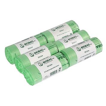 50 litros x 150 bolsas de basura biodegradables compostables ...
