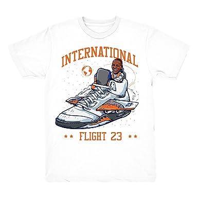 e44e255c434ea1 International Flight 5 Flight 23 Shirt to Match Jordan 5 International  Flight Sneakers - White t