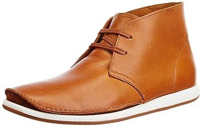 Clarks Men's Tan Leather Casual Sneakers - 10.5 UK