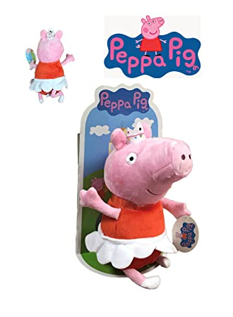 Peppa Pig - Peluche Peppa disfrazada de bailarina 27cm Blister - Calidad super soft