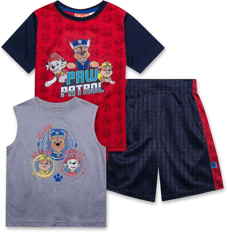 Paw Patrol Shirt Tank Top & Shorts 3 Piece Set...