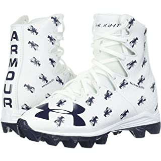 Under Armour Boys' Highlight RM Jr. Limited Edition Lacrosse Shoe, White (102)/Midnight Navy, 1