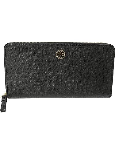 0ff42d6f77b Amazon.com: Tory Burch Women's Robinson Zip Continental Wallet Black ...