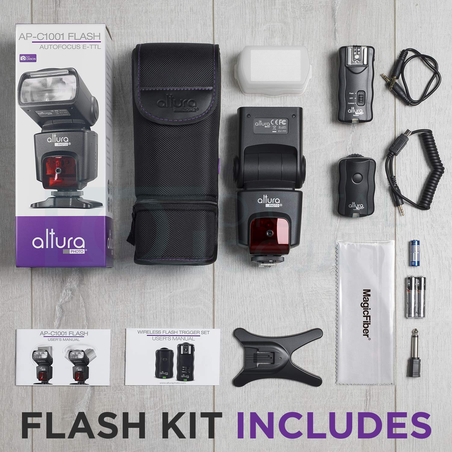 Amazoncom Altura Photo Professional Flash Kit For Canon Dslr With