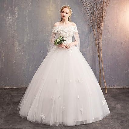75af2840c CJJC Larga Cola Princesa Dream Vestidos de Novia de Gran tamaño Elegante  Piso sin Espalda Vestidos