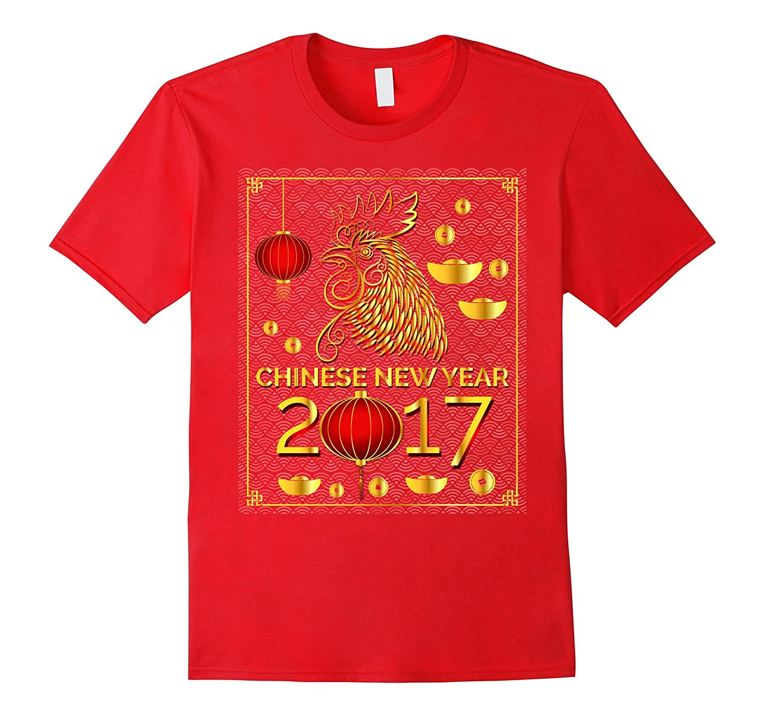 Happy Chinese New Year 2017 Year of The Cock T-Shirt-TD