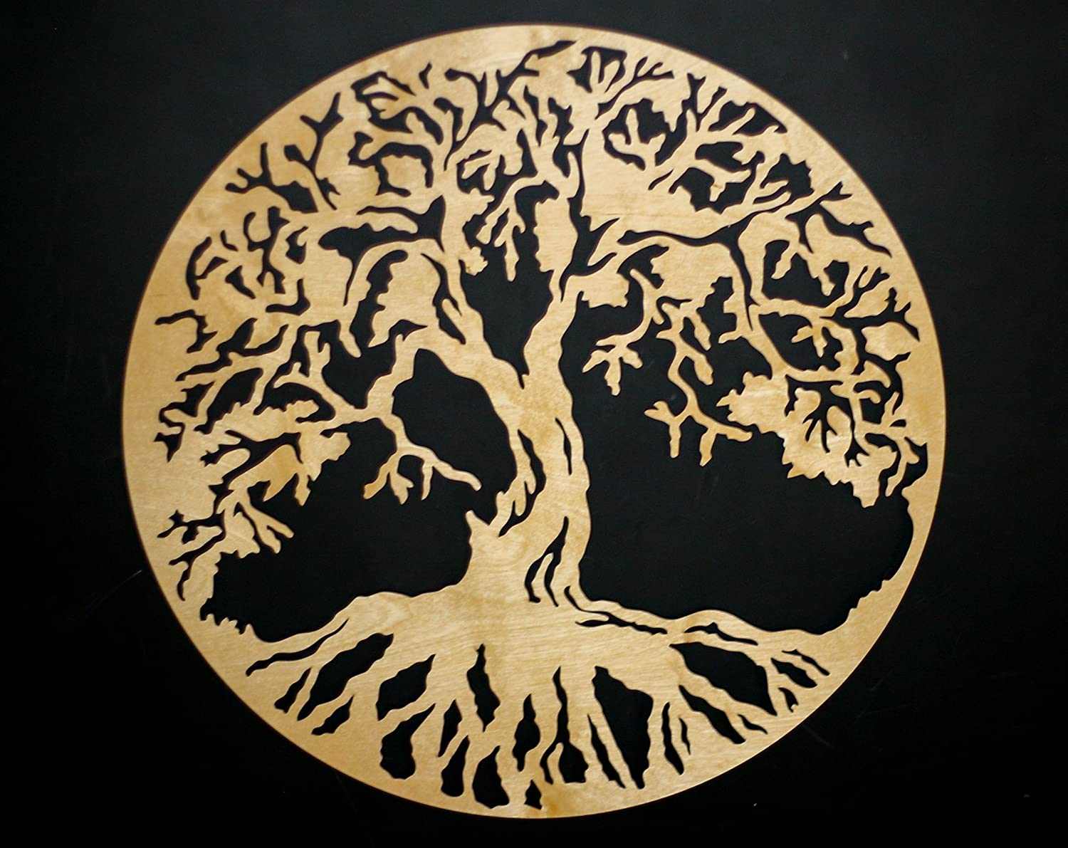 Tree Of Life Round 3d 22 Wooden Wall Art Beautiful Home Decor Wedding Gift Made In The Usa Handmade