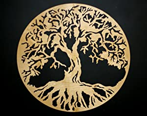 """Tree of Life Round 3D 22"""" Wooden Wall Art - Beautiful Home Decor - Wedding Gift - Made in the USA"""