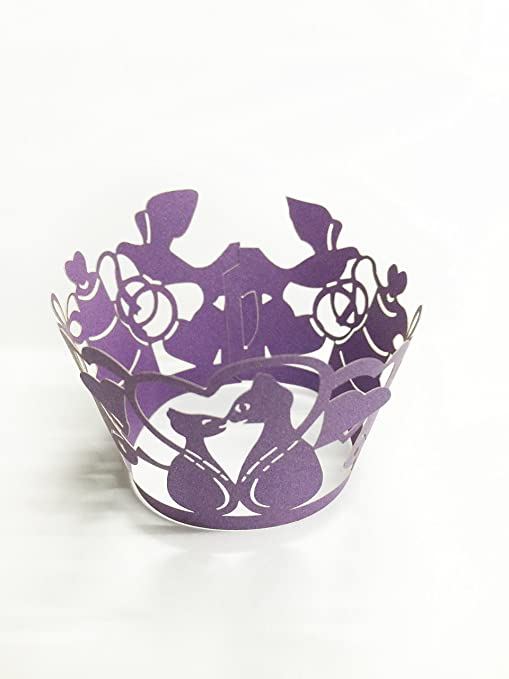 Amazon.com: hual Envoltorios para cupcakes (50 artística de ...