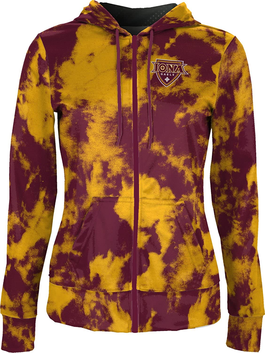 School Spirit Sweatshirt ProSphere Iona College Girls Zipper Hoodie Grunge