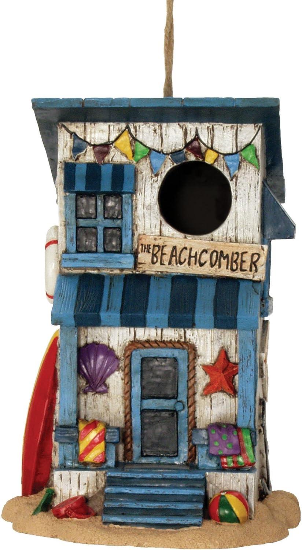 Spoontiques 10139 Beach House Birdhouse, Brown