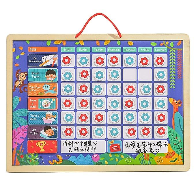 Magnetische Belohnungstafel Sternchenplan mit Viel Zubehör für Kinder