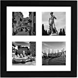Top Rated Black Collage Picture Frame, Made for Four Photos Sized 4x4 Inch, Smartphone Collection, Glass Size 10x10 inches