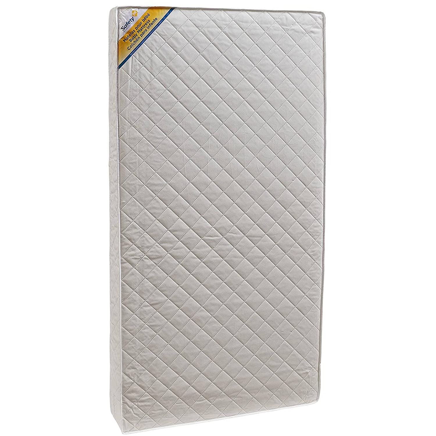 Amazon.com : 2-in-1 Crib and Toddler Mattress PVC- Free, Water Resistant Cover Thermo-bonded Fiber Core Provides Firm Support for Infant Fits Standard Cribs ...