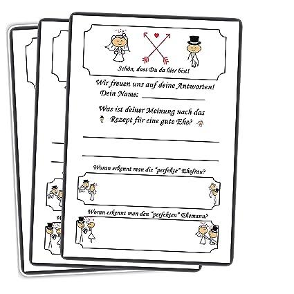 Lustiges Hochzeitsspiel 52 Postkarten Schön, dass Du da bist mit Fragen & Aufgaben für Gäste & Brautpaar Hochzeitsspiele Vint