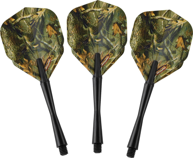 Realtree Hardwoods HD-Camouflage Darts mit Stahlspitze und Aufbewahrungs-//Reisetasche Fat Cat 23/Gramm