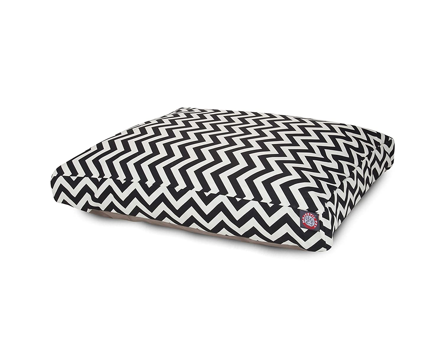 Best Black Chevron Small Rectangle Indoor Outdoor Pet Dog Bed With
