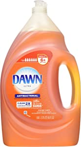 Dawn Ultra Concentrated Antibacterial Hand Soap Dishwashing Liquid Refill, Orange Scent, 56 Ounce