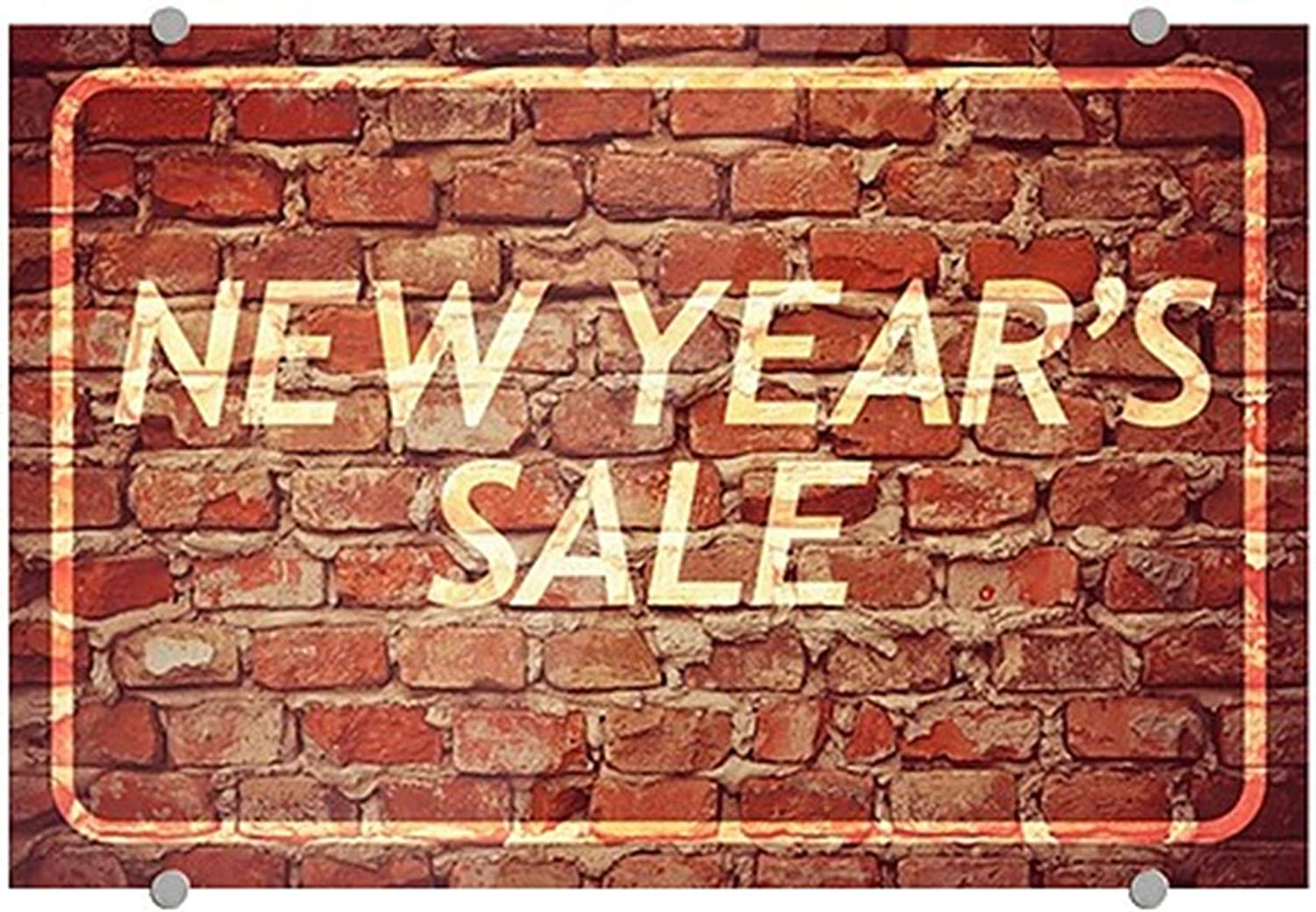 New Years Sale Ghost Aged Brick Premium Brushed Aluminum Sign CGSignLab 27x18