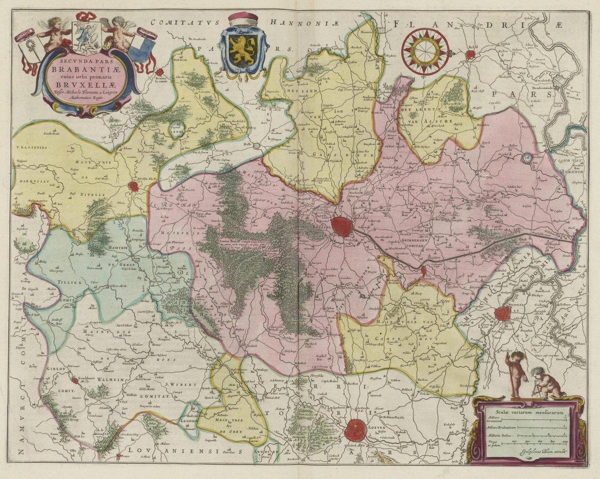 Amazon.com: 1665 World Atlas | Secvnda Pars Brabantiae | Antique ...
