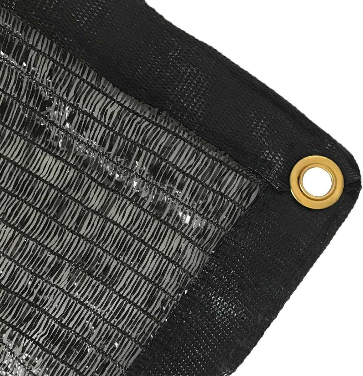 EasyShade 50 Black Shade Cloth Taped Edge with Grommets UV 12 ft x 20 ft