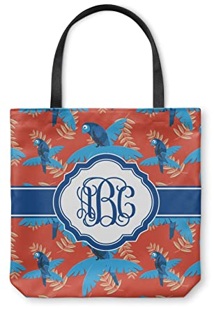 Amazon.com: Blue Parrot Canvas Tote Bag (Personalized): Clothing