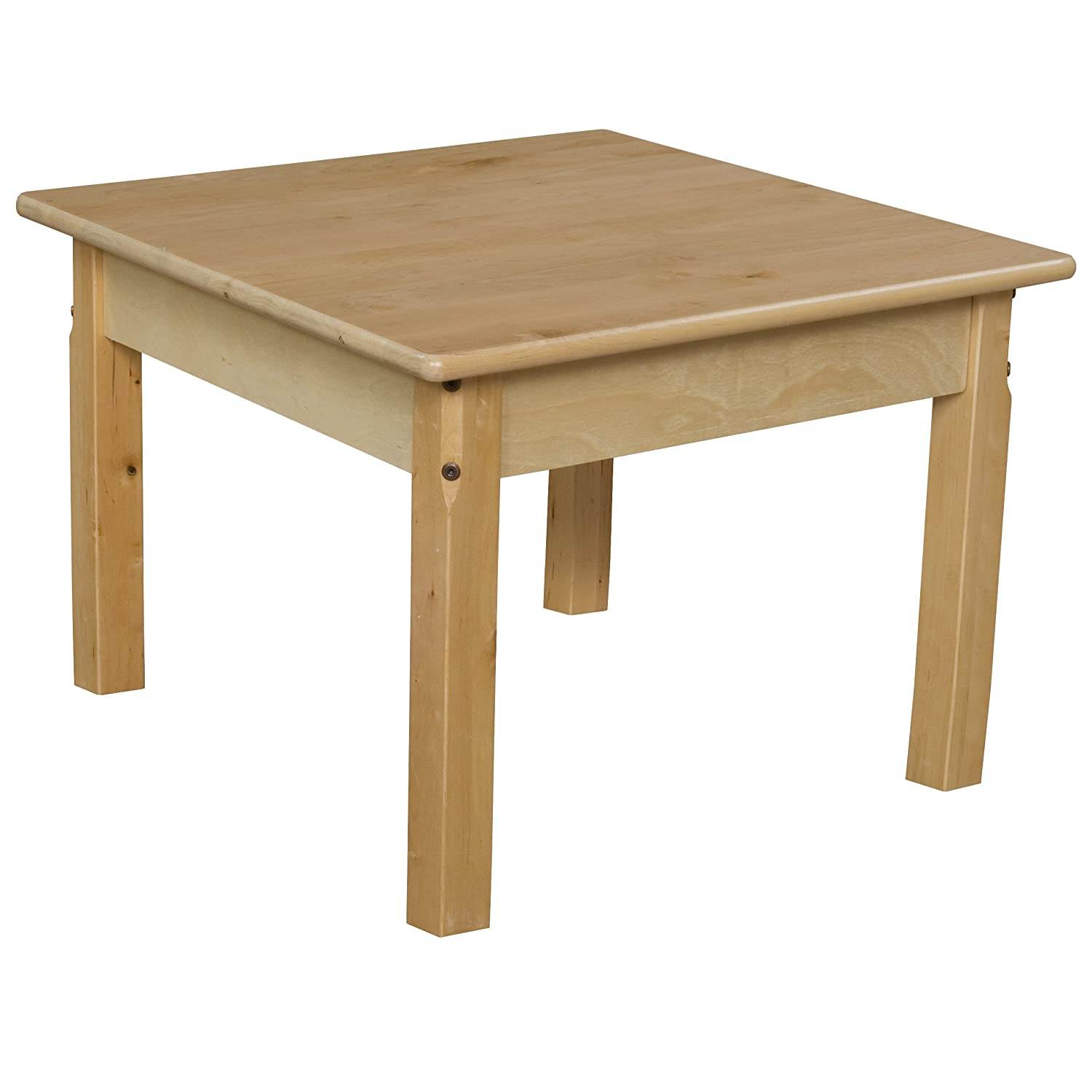 Wood Designs WD82426 24 Square Hardwood Table with 26 Legs Natural