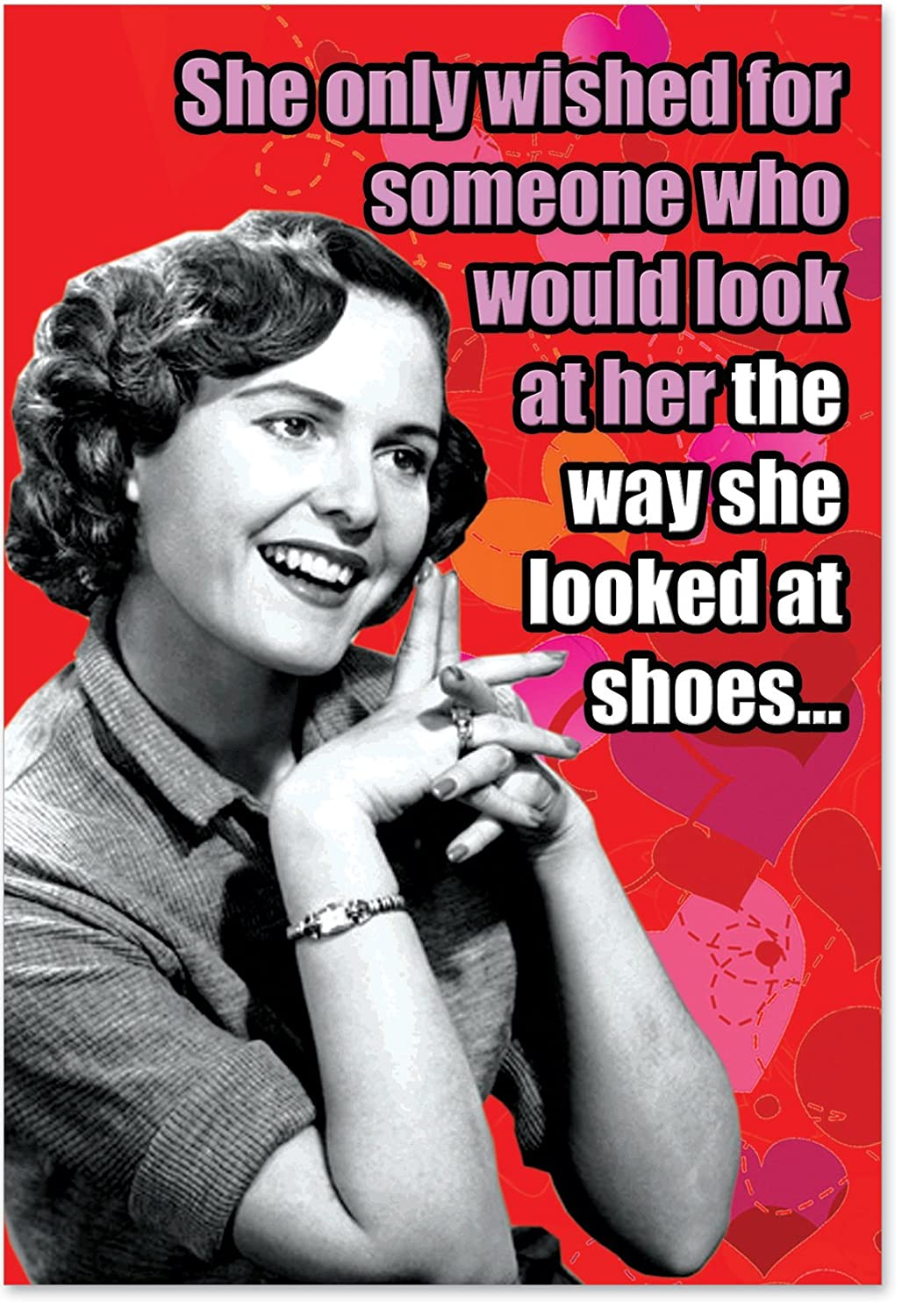 NobleWorks 2198 ''Looked At Shoes'' Funny Valentine's Day Unique Greeting Card, 5
