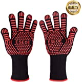 ESEOE BBQ Cooking gloves, 932°F Heat Resistant Grill Gloves for Cooking, Grilling, Baking,Extremely barbecue Oven Gloves-Top BBQ Accessory