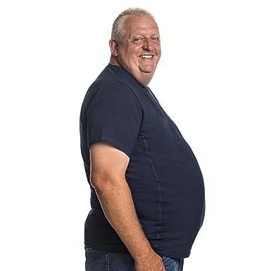 new arrivals 28606 98aa8 T-Shirt für Männer mit Übergröße Bauchumfang Herren Rundhals Basic Tshirt  Übergrößen 2XL - 8XL