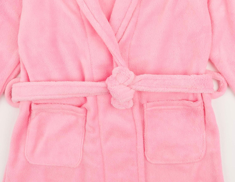 Leveret Kids Robe Boys Girls Shawl Collar Fleece Sleep Robe Size 4-14 Years Variety of Colors