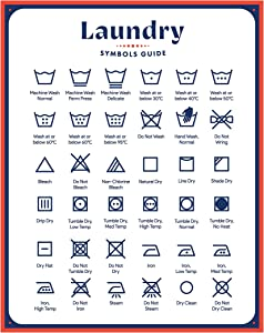 Jot & Mark Laundry Symbols Magnet Guide