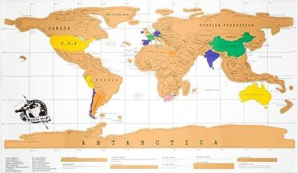 Mapa Mundi para rascar, Mapa para rascar multicolor, Mapa del Mundo para rascar viajes. Mapamundi para rascar 88 x 52 cm.: Amazon.es: Oficina y papelería