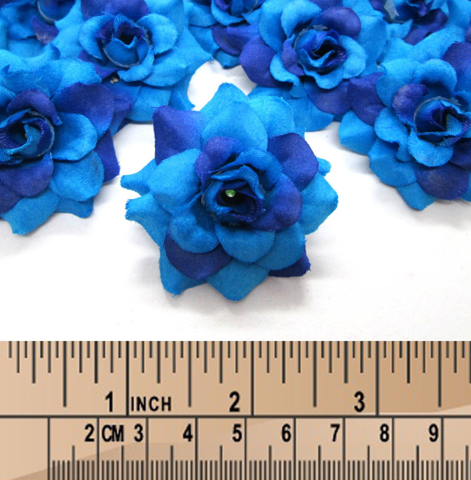 100-Silk-Two-Tone-Blue-Roses-Flower-Head-175-Artificial-Flowers-Heads-Fabric-Floral-Supplies-Wholesale-Lot-for-Wedding-Flowers-Accessories-Make-Bridal-Hair-Clips-Headbands-Dress