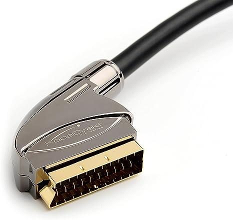 KabelDirekt PRO Series - Cable SCART 21 polos, blindaje múltiple, conector de precisión, Full HD, para los sistemas Home Cinema), 1.5 m: Amazon.es: Electrónica