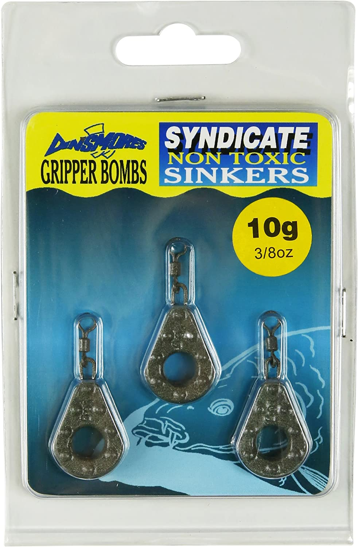 ungiftig Braun Dinsmores Gripper Bomb Syndicate Sinker 10 g