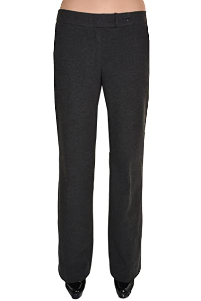 ec5d5765c Calvin Klein Womens Wool Dress Pants Classic Fit Heather Charcoal at ...