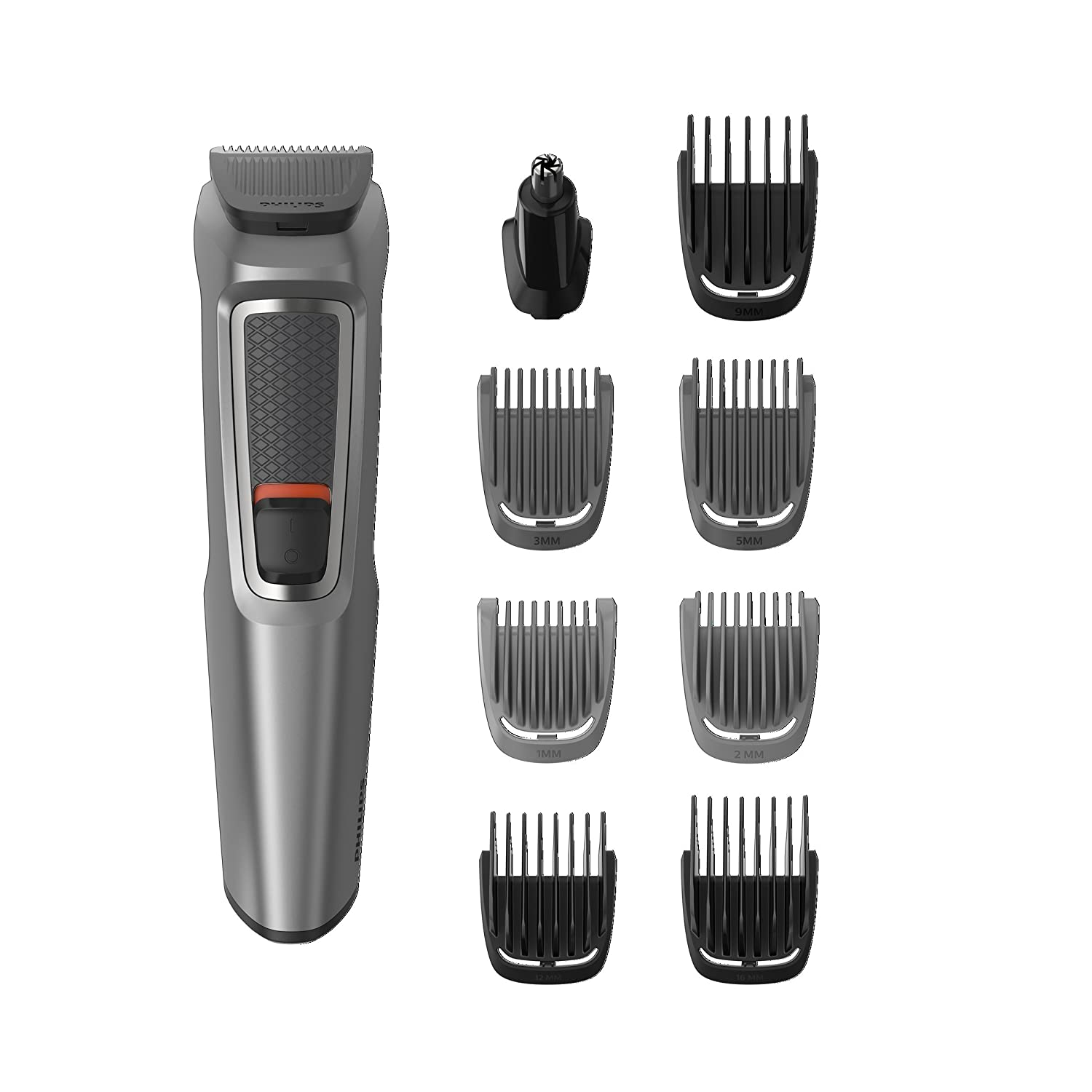Philips Series 3000 10-in-1 Multi Grooming Kit for Beard, Hair and Body with Nose Trimmer Attachment - MG3747/33