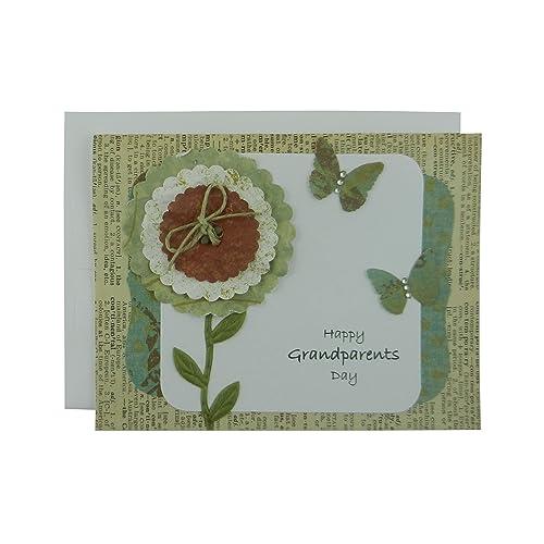 Amazon grandparents day card handmade greeting card for grandparents day card handmade greeting card for grandparents day vintage flower card for grandparents m4hsunfo